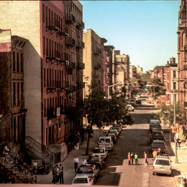A Harlem Neighborhood photographed from a moving Metro North Train - circa 1985