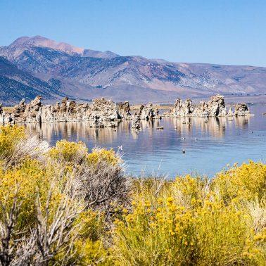 A color photograph of Mono Lake california